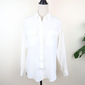 Equipment Signature Washed Silk Shirt XS